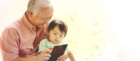 Gekko Retail Marketing Grandparents Tablet